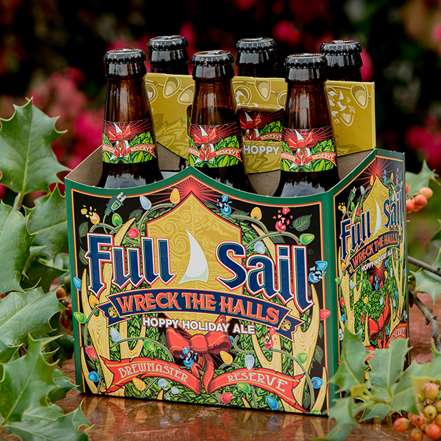 Full Sail Brewing returns with Wreck the Halls Six Pack. (image courtesy of Full Sail Brewing)