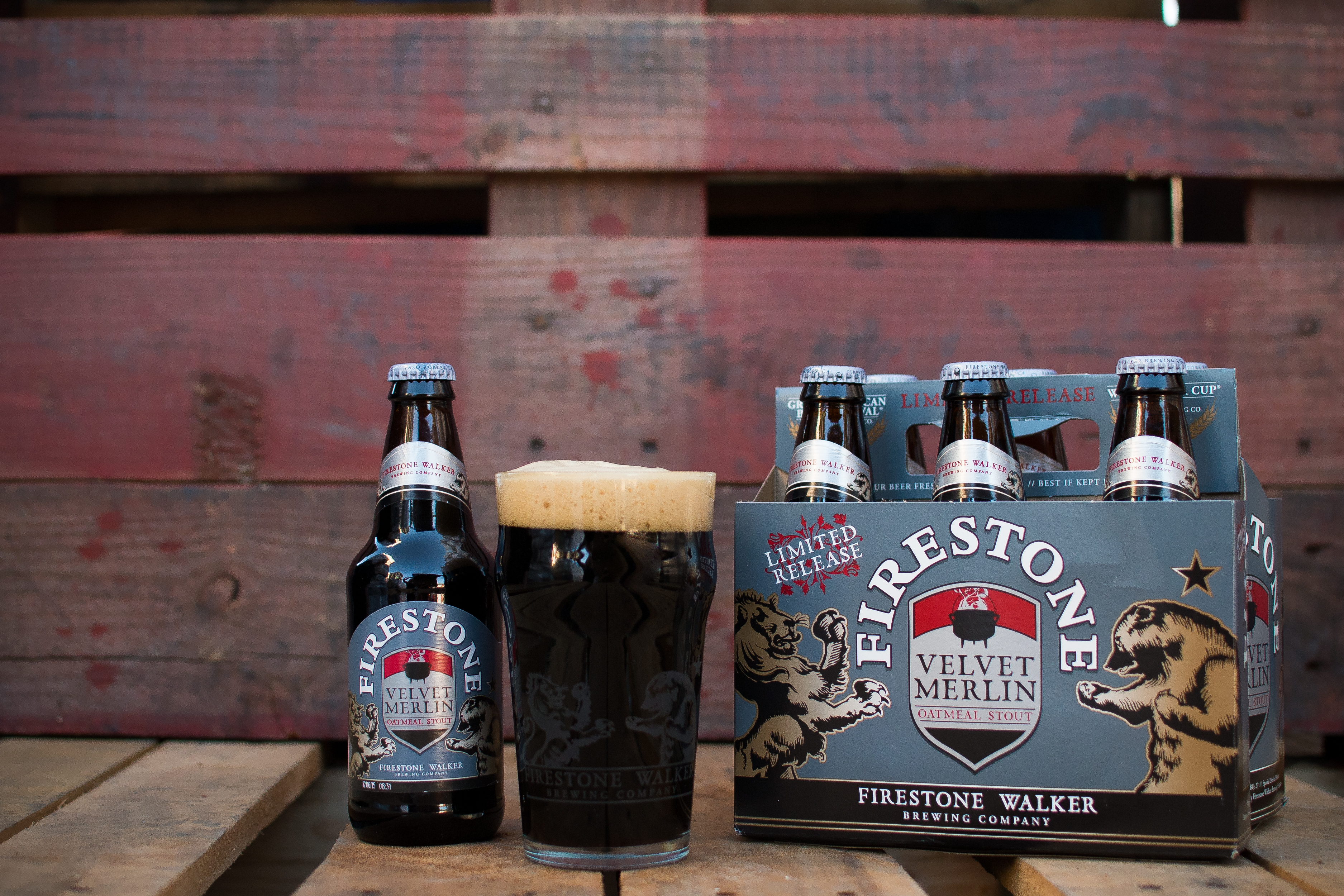 Limited release six packs of Firestone Walker Velvet Merlin. (photo by Nick Gingold)