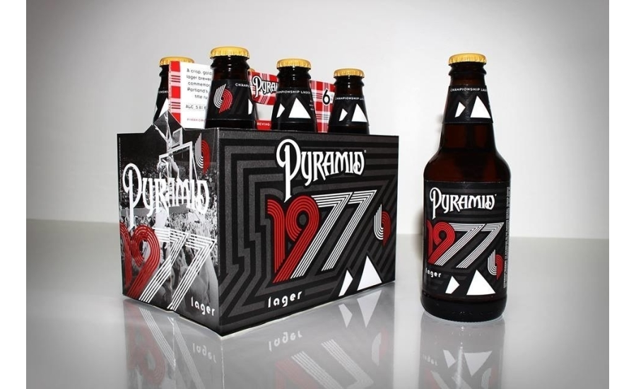 Pyramid 1977 Lager honors the 1976-1977 Trail Blazers. (image courtesy of Pyramid Brewing)