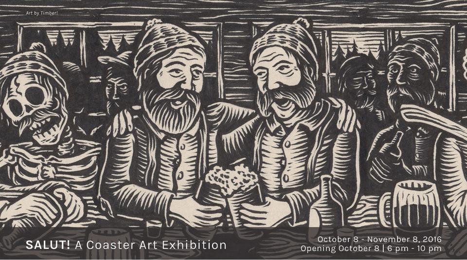 SALUT! A Coaster Art Exhibition at Nucleus Portland.