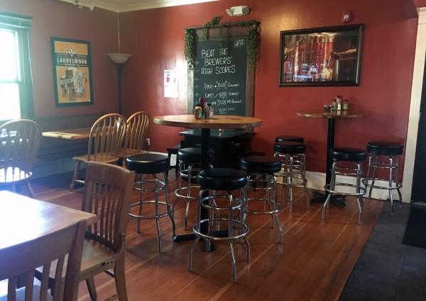 Seating in Laurelwood Brewer's Den. (photo courtesy of Laurelwood Brewing)