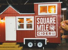 Square Mile Cider Tiny House that will be raffled. (image courtesy of Square Mile Cider/CBA)