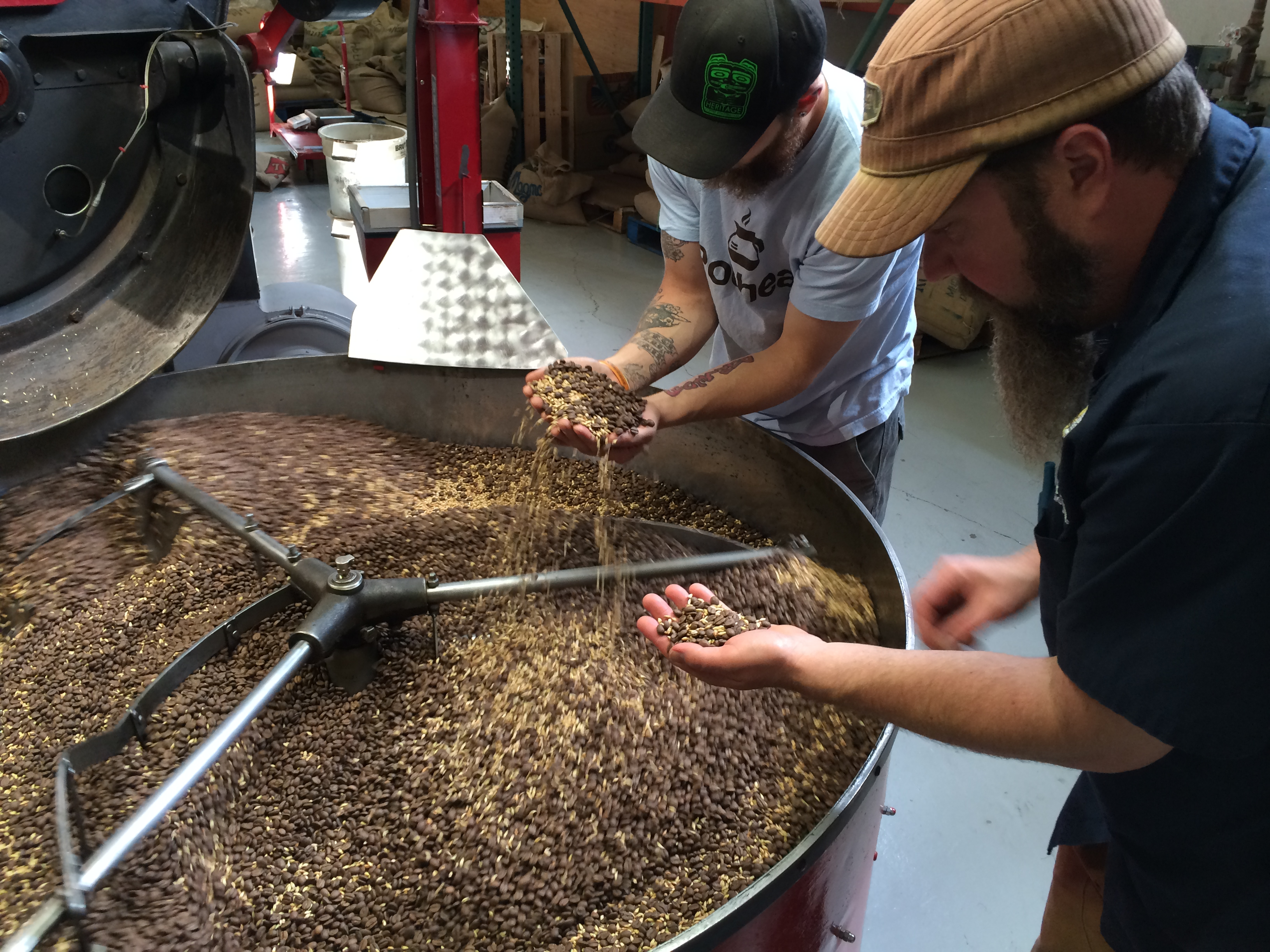The roasted coffee beans from Juneau-based Heritage Coffee Roasting Company that goes into make Alaskan Heritage Coffee Brown Ale. (image courtesy of Alaskan Brewing)