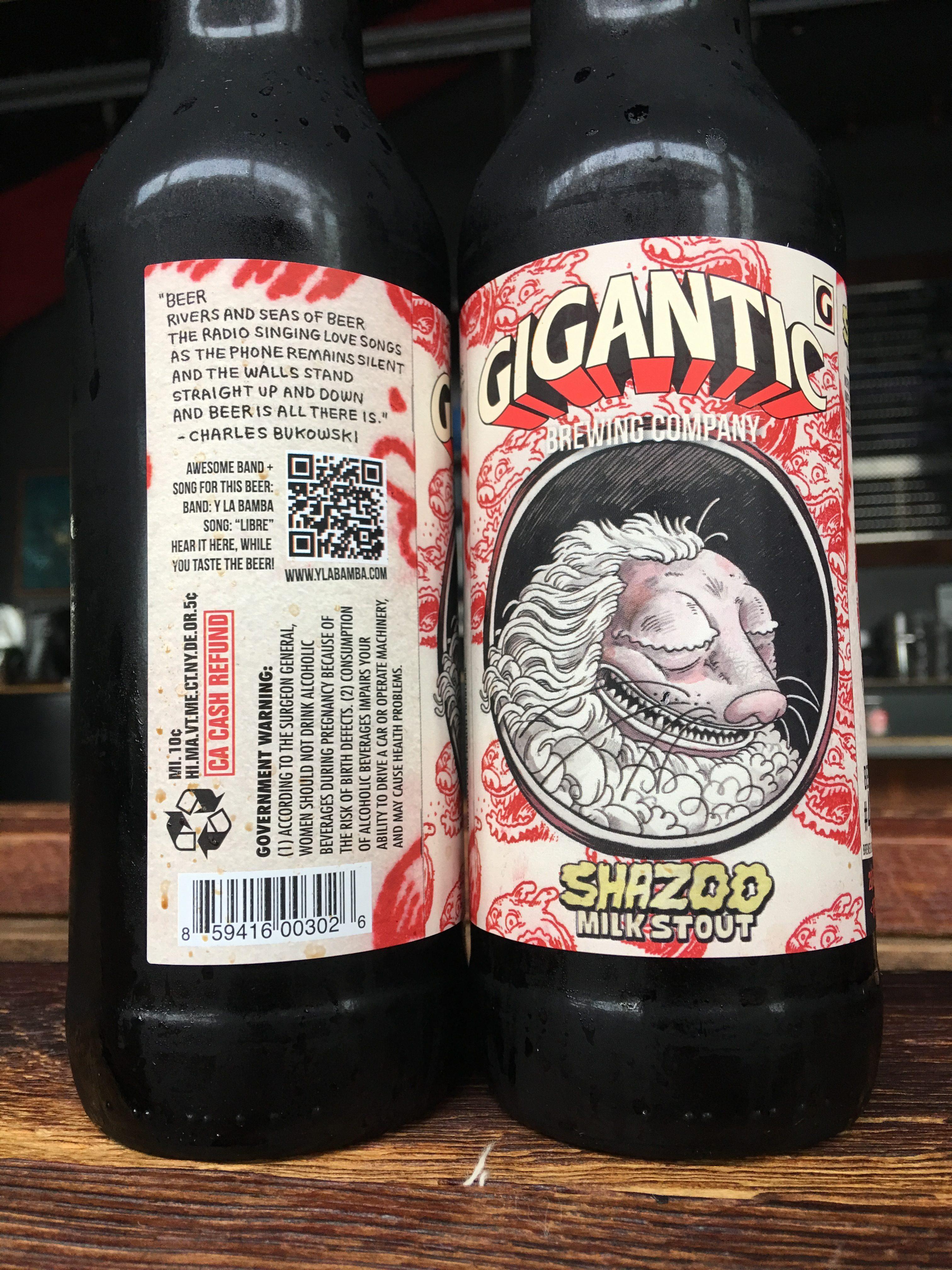 Bottles of Shazoo Imperial Milk Stout. (image courtesy of Gigantic Brewing)