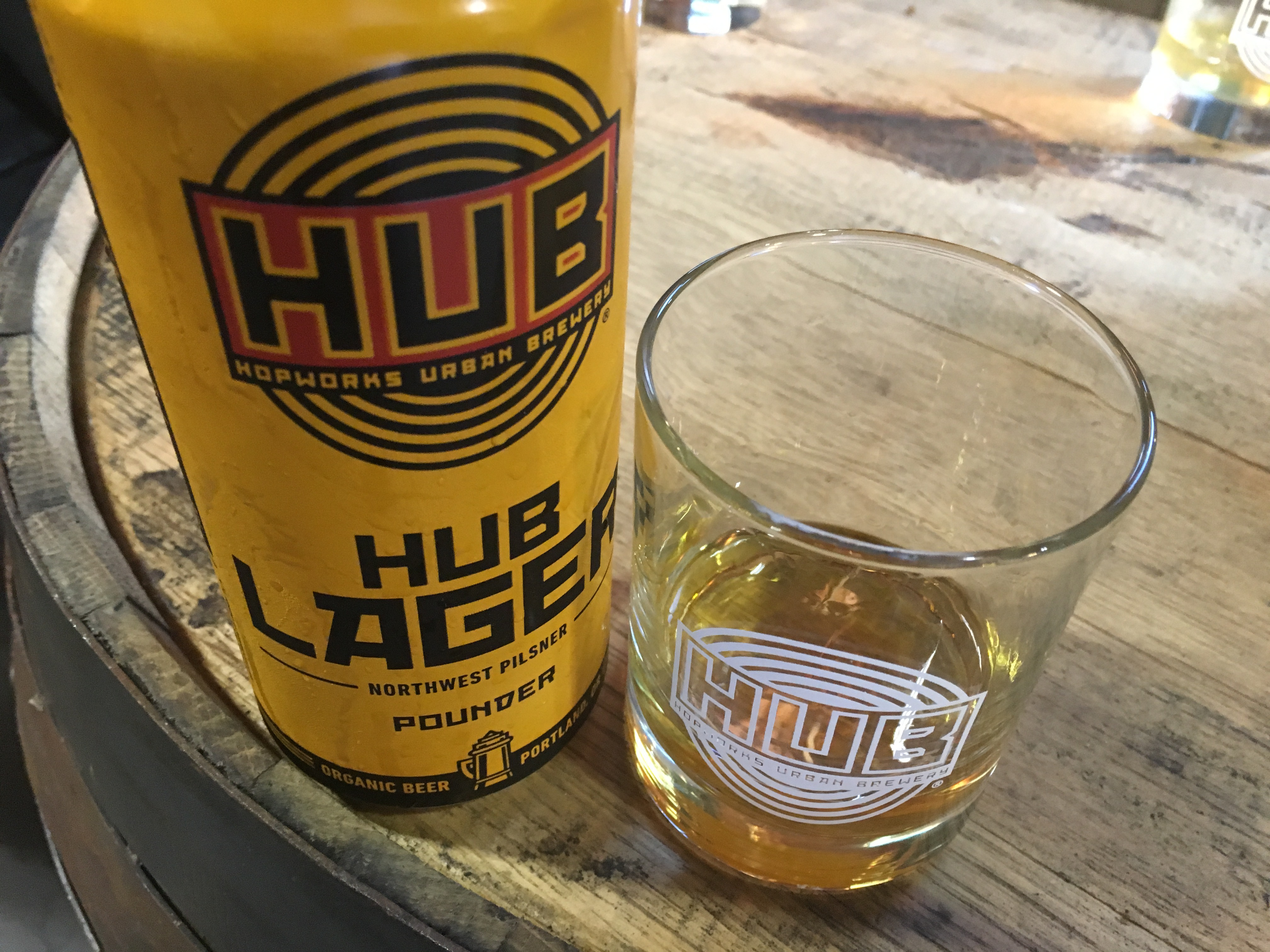 Hopworks new HUB Brewer's Whiskey is distilled from an un-hopped version of HUB Lager at New Deal Distillery.