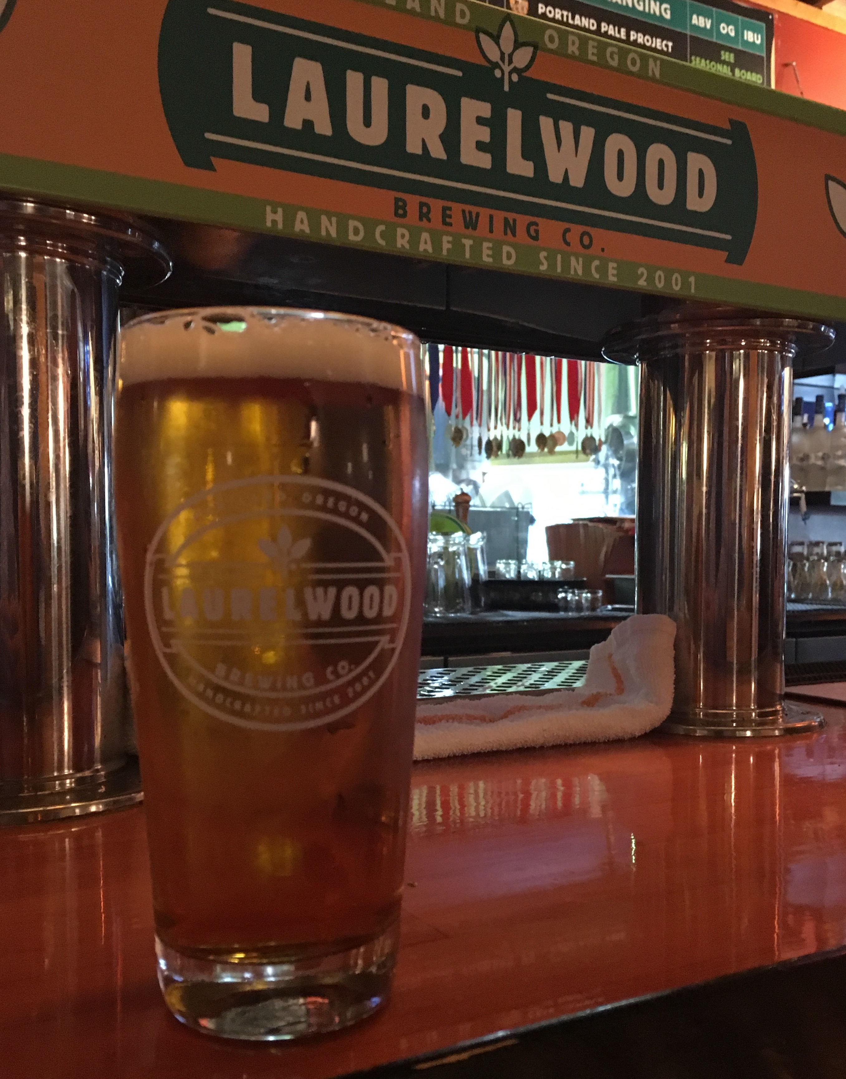 Laurelwood Brewing Rando #20 on draft at its NE Sandy Boulevard pub.
