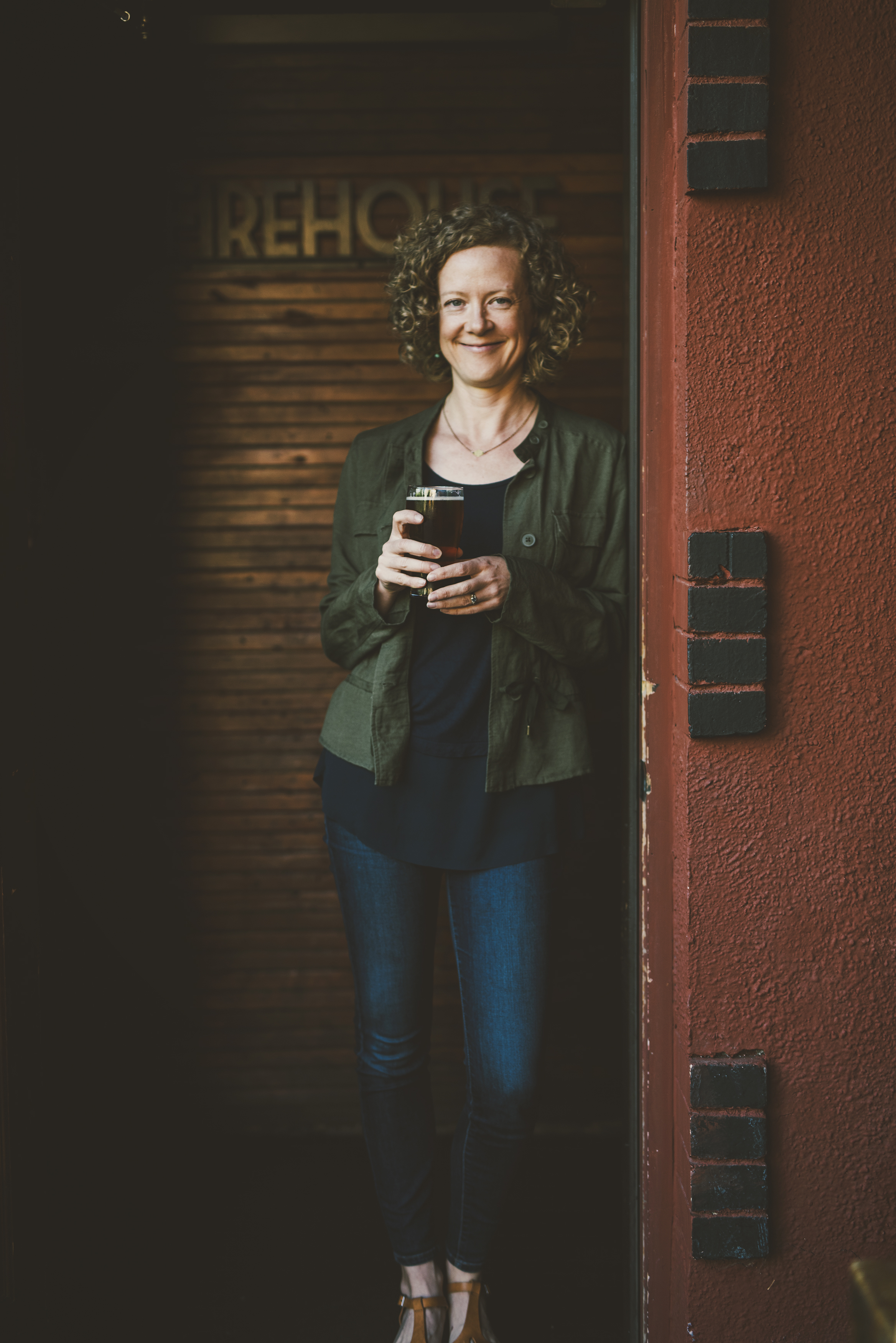 Lucy Burningham, author of My Beer Year. (photo courtesy of Anna Caitlin Photography)