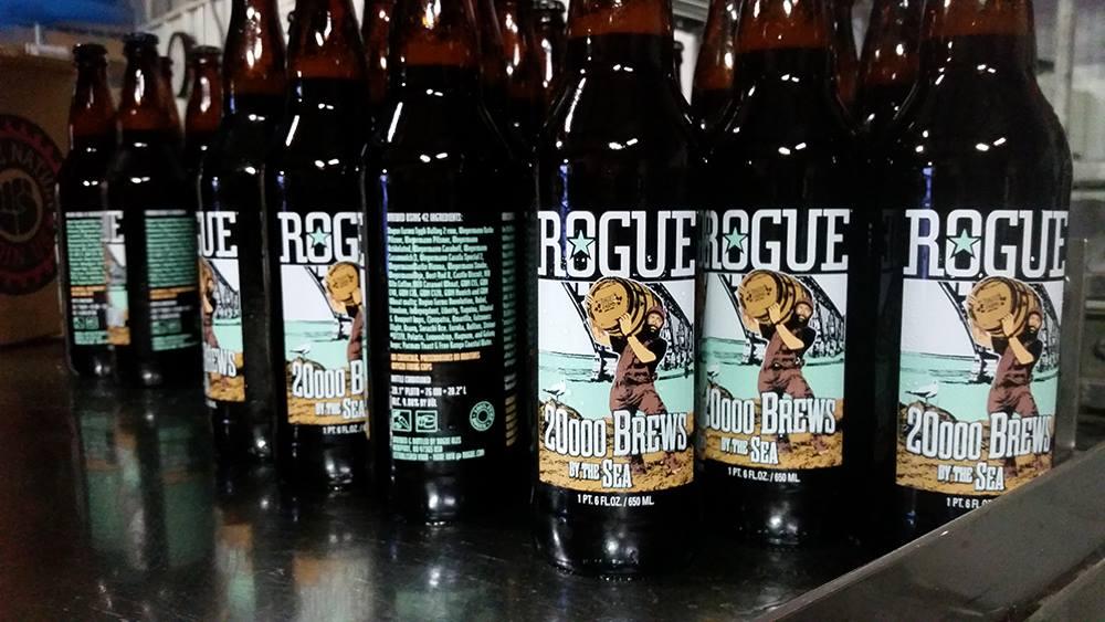 Rogue Ales 20,000 Brews By The Sea 22 oz. bottles. (image courtesy of Rogue Ales)