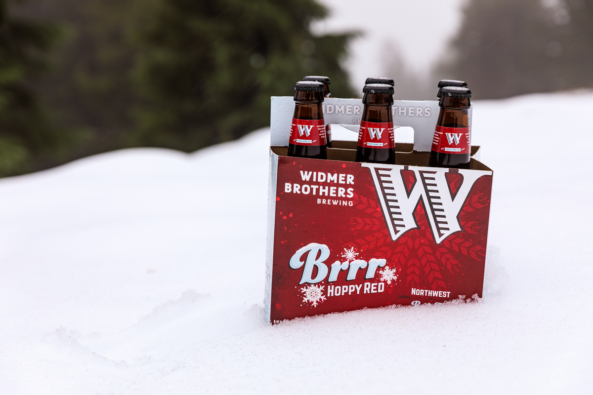 Six Pack of 12 oz. bottles of Widmer Brothers Brewing Brrr. (image courtesy of Widmer Brothers Brewing)