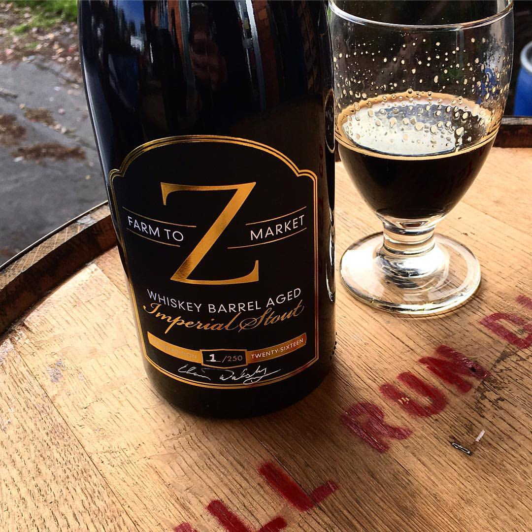 Zupan's Markets and Coalition Brewing Farm-To-Market Whiskey Barrel Aged Imperial Stout. (photo courtesy of Zupan's Markets)