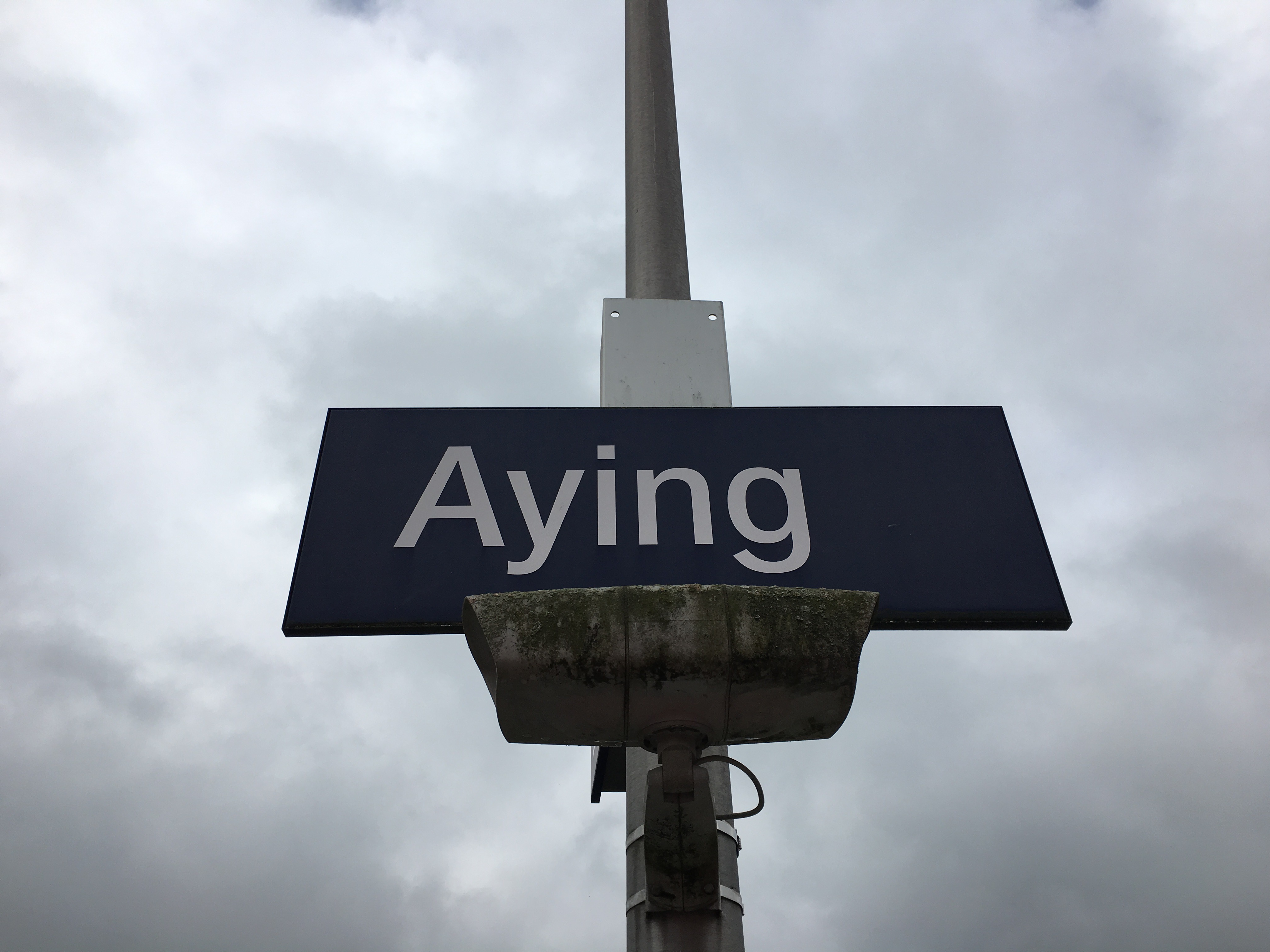 Aying S-Bahn stop.