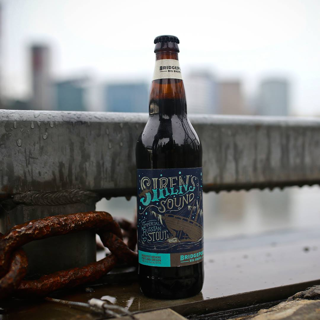 BridgePort Brewing Siren's Sound Imperial Russian Stout bottle. (image courtesy of BridgePort Brewing)