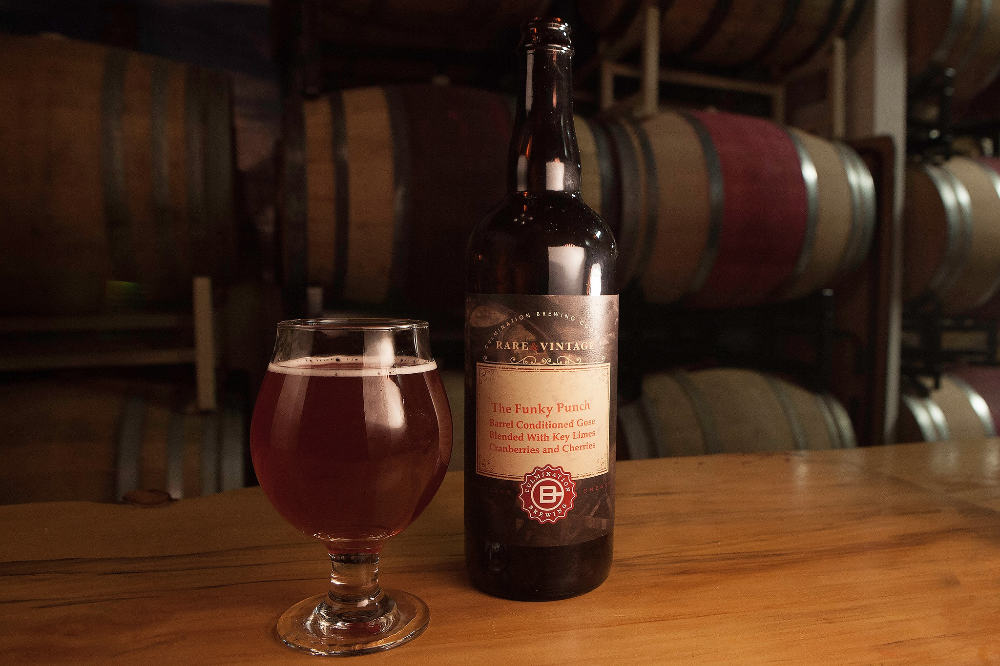 Culmination Brewing releases Funky Punch in bottles and on draft on December 7th at its brewery. (image courtesy of Culmination Brewing)