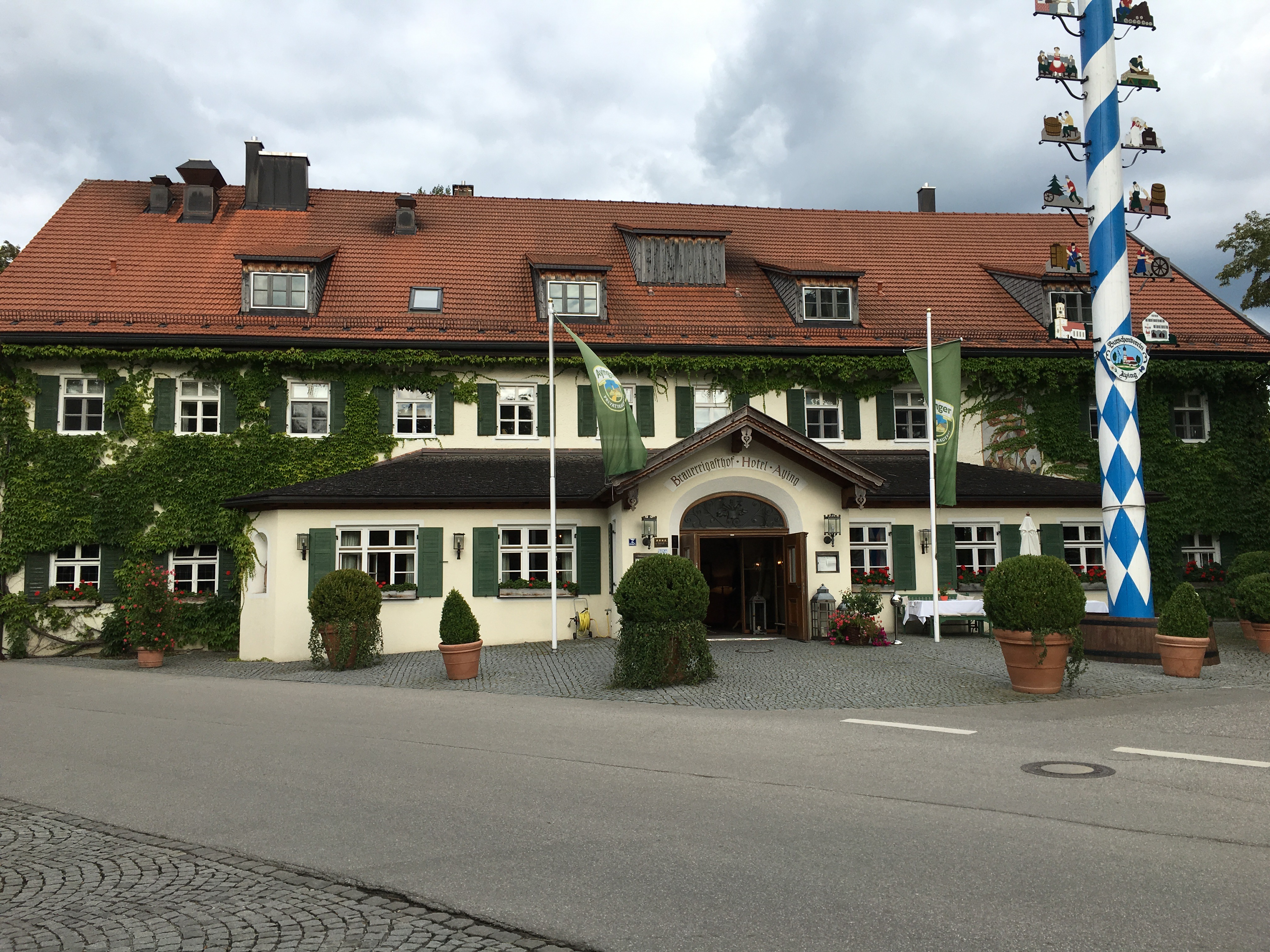 Less than a block away from Ayinger Braustuberl is Brauereigasthof Hotel Aying.