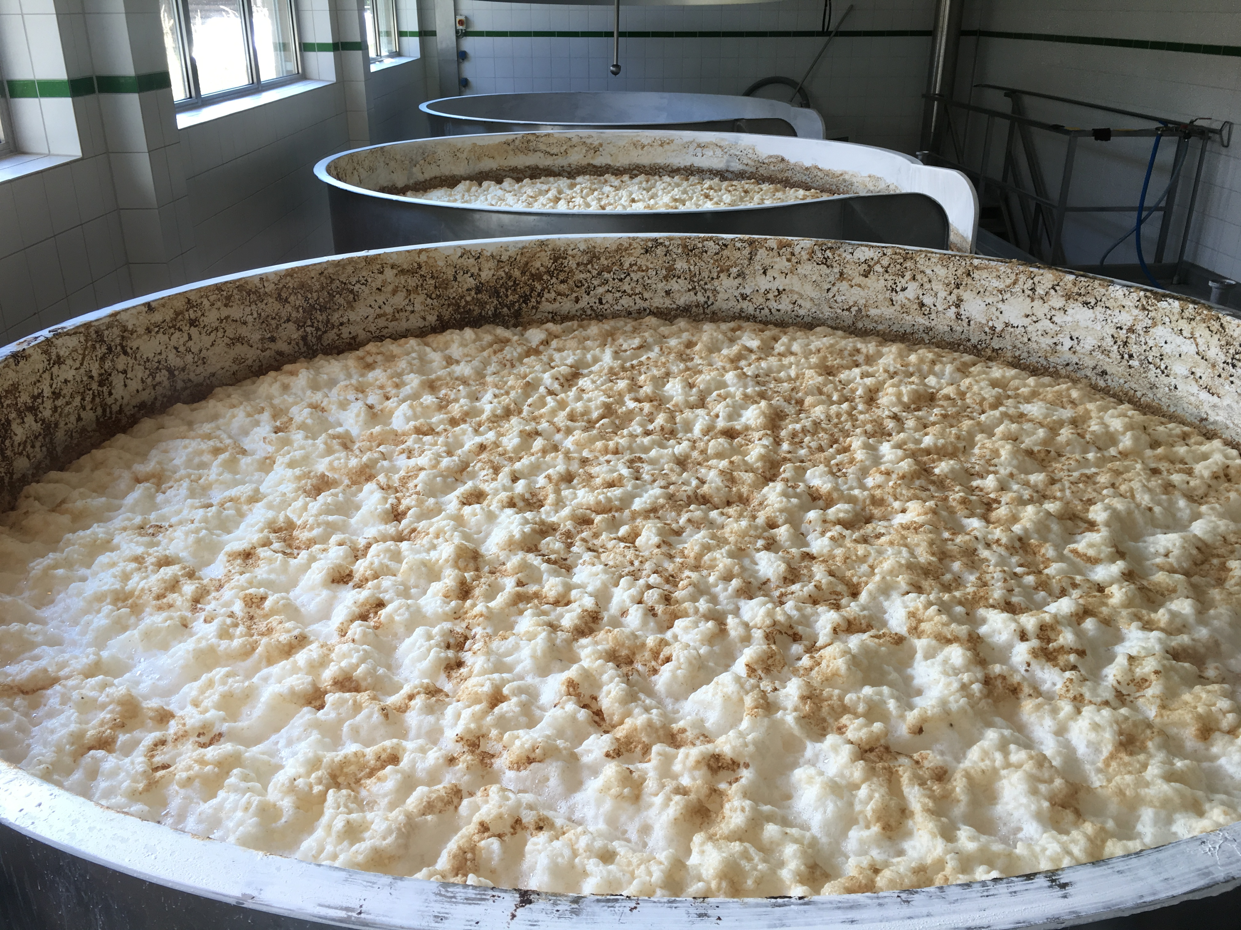 Open fermentation for its weizens at Ayinger.