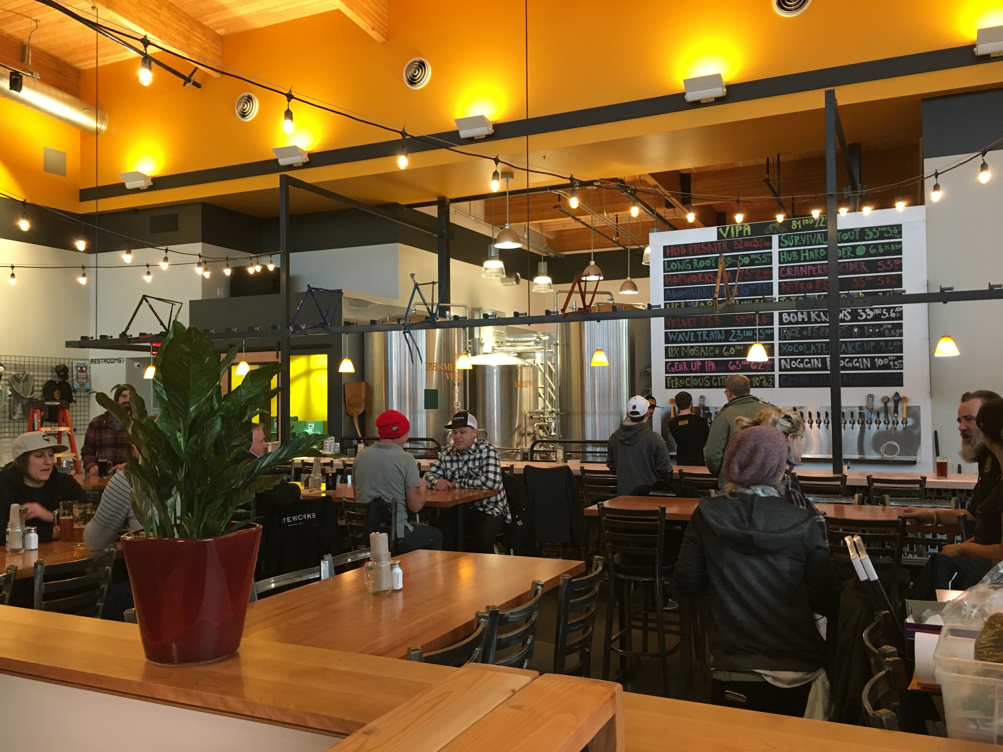 Preview of the new hopworks urban brewery in vancouver for Bar food vancouver