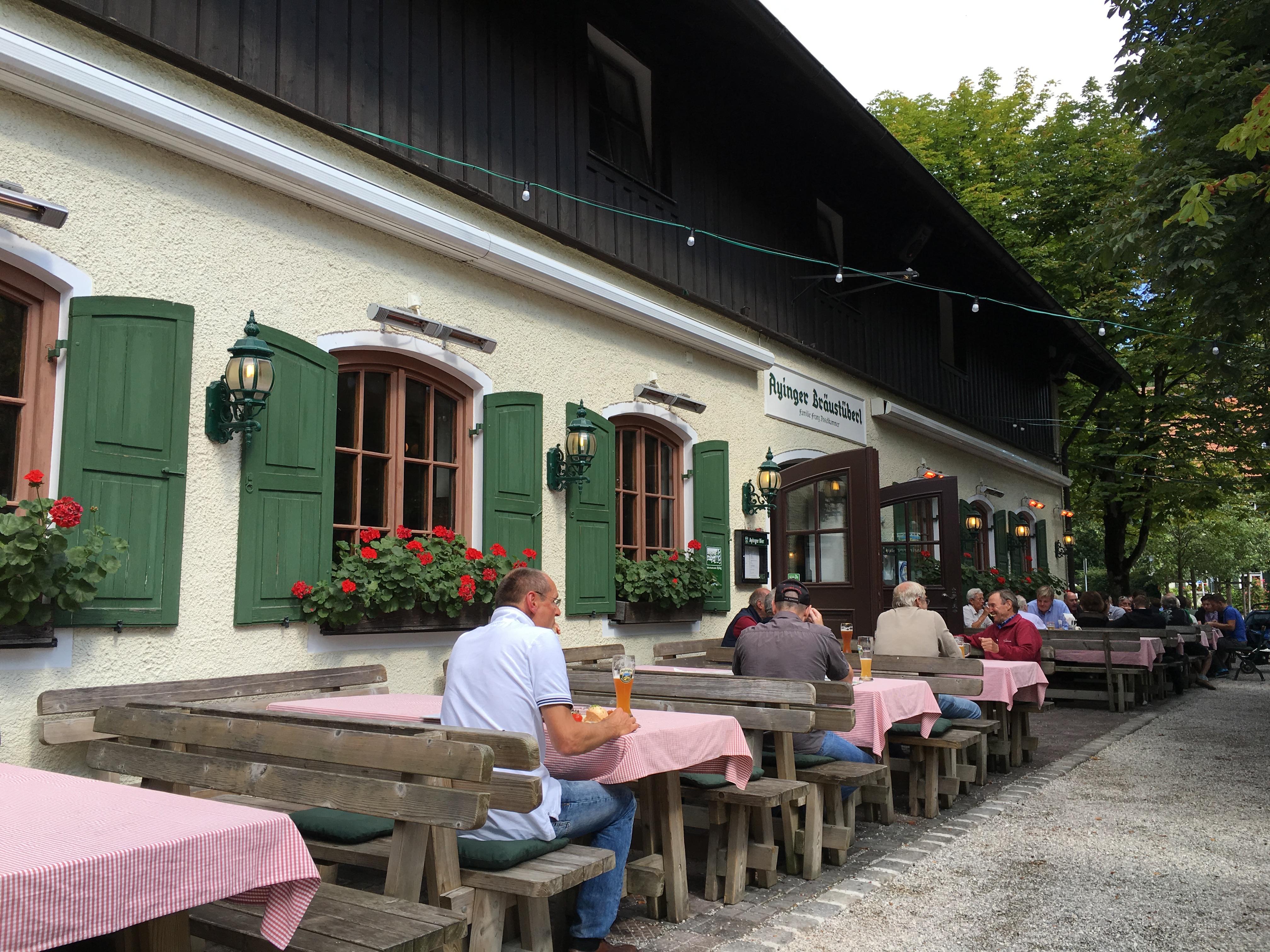 The beautiful setting at Ayinger Braustuberl.