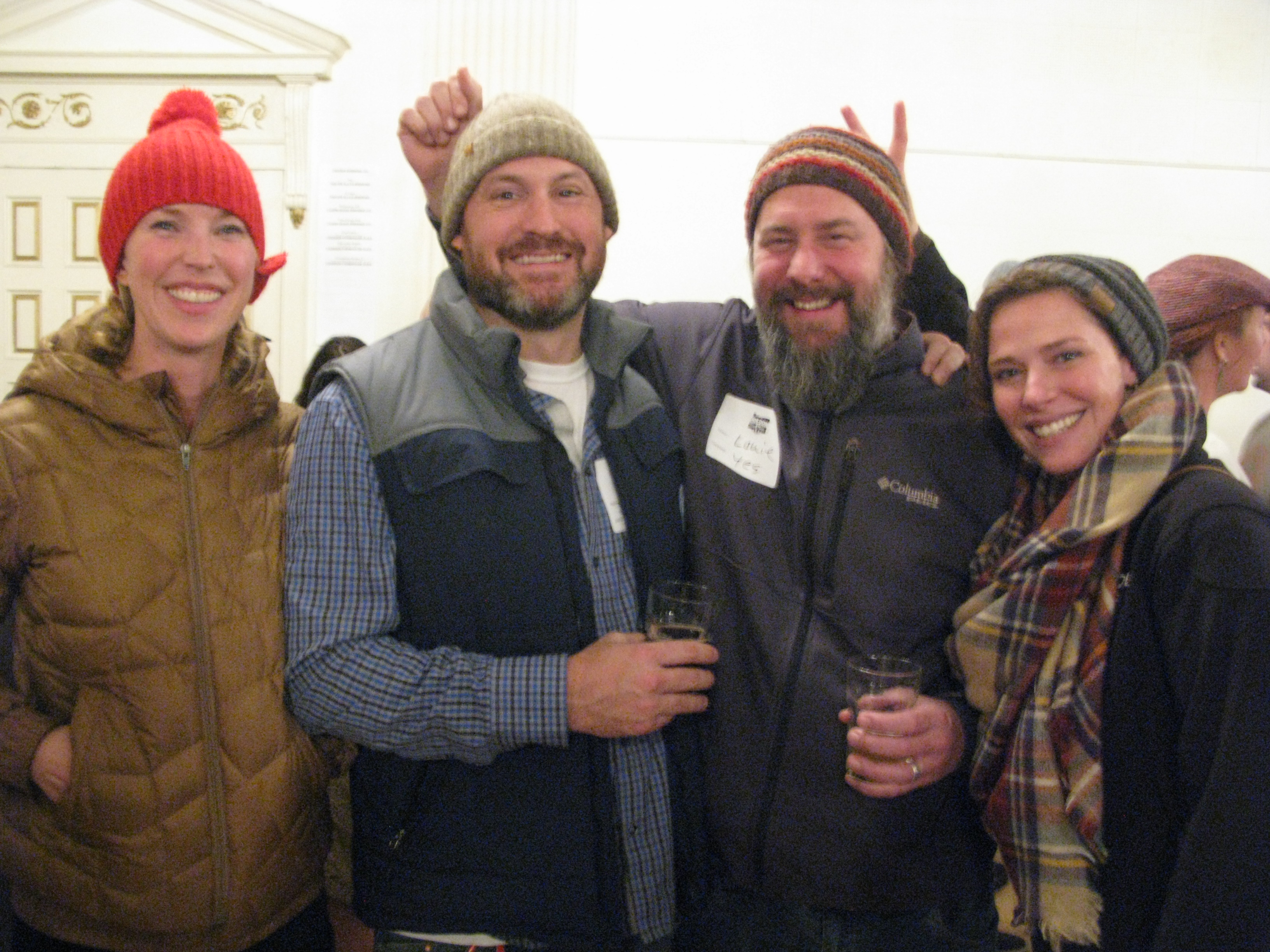 The crew from Burnside Brewing, Mary, Jay, Chip and Kristin. (FoystonFoto)