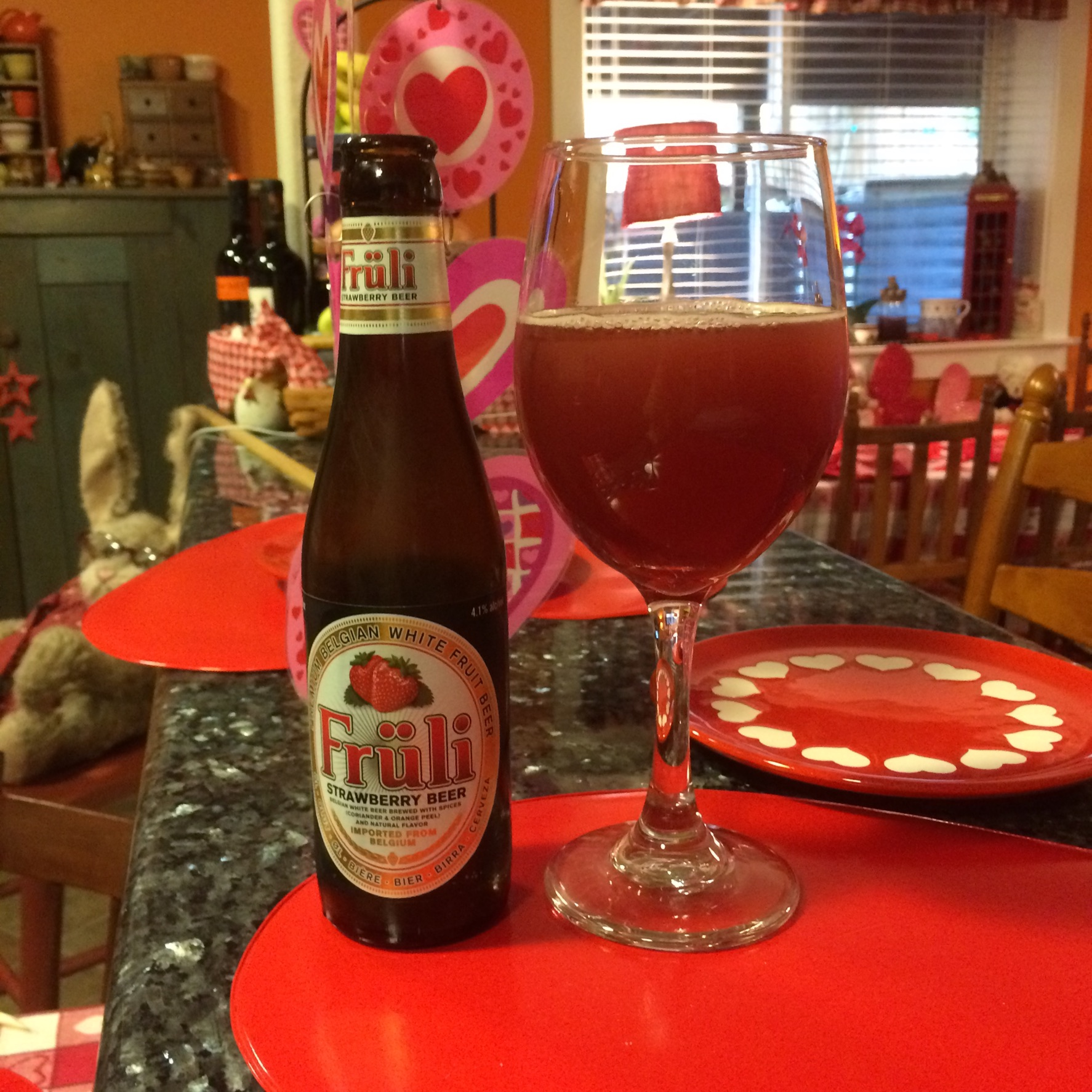 a perfect date for valentines day fruli strawberry beer photo by jean de ieso