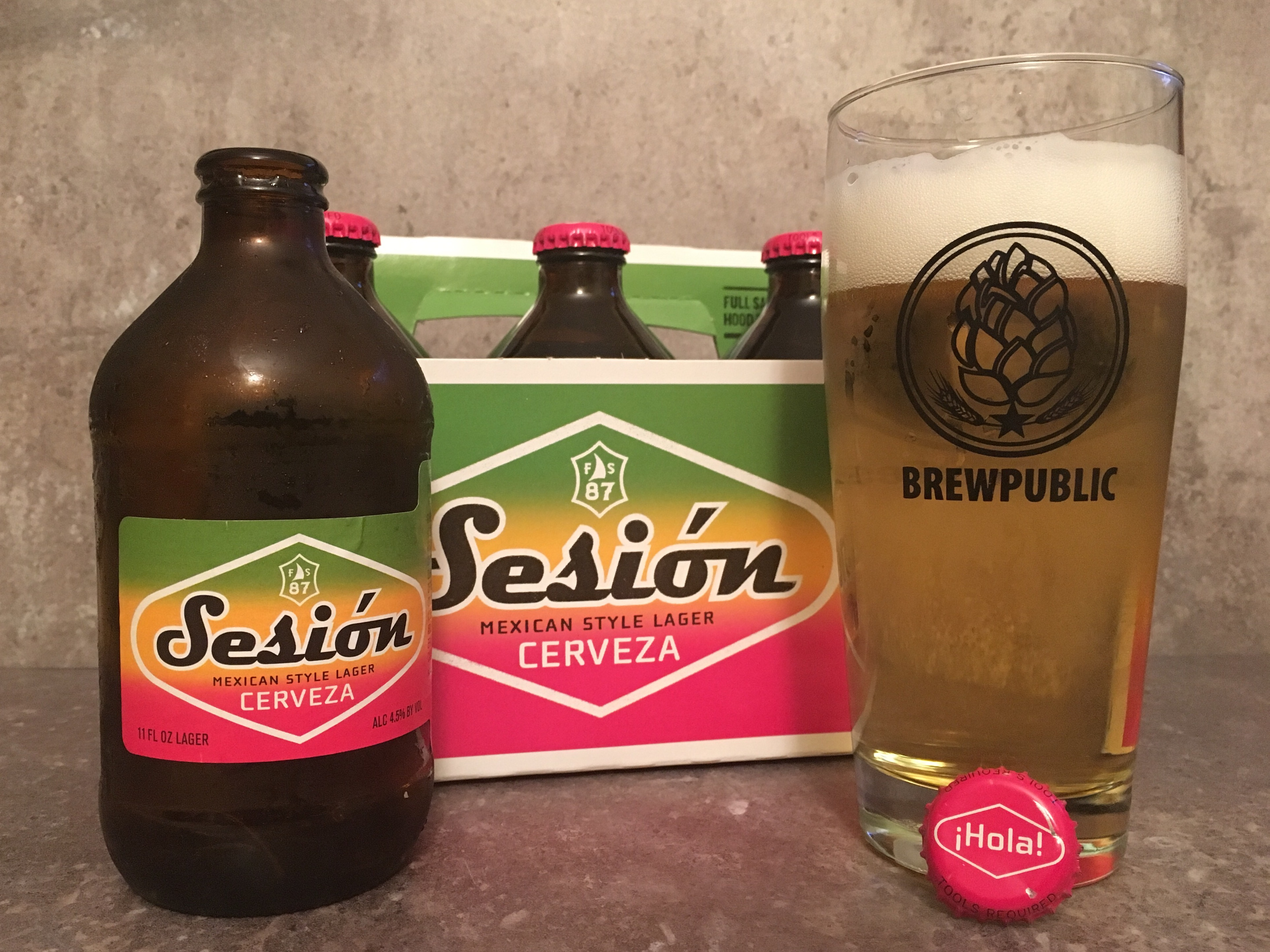 ... Sail Brewing Sesion Cerveza Mexican Style Lager in a Brewpublic glass