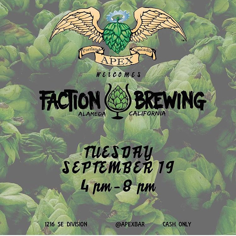 Faction Brewing Tap Takeover At Ape