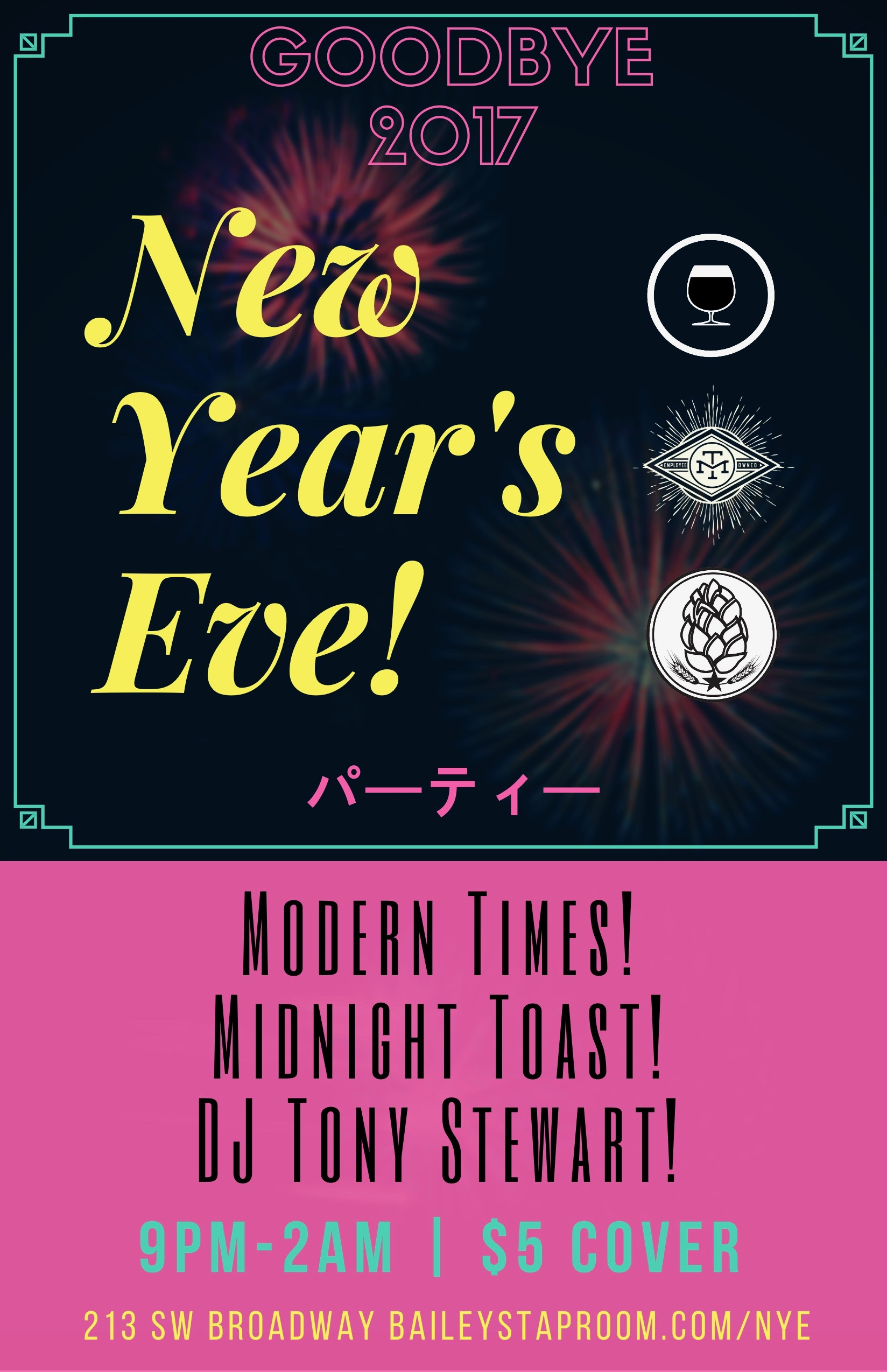 BREWPUBLIC Modern Times New Year's Eve 2018 Poster