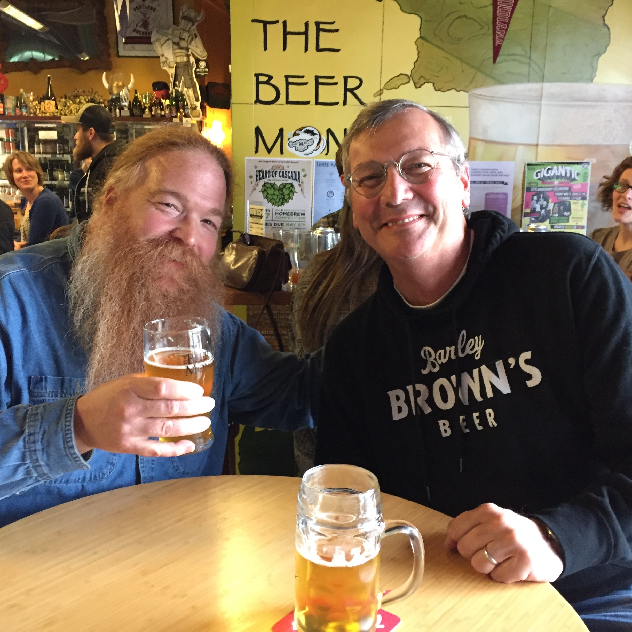 Charles Culp and Jeff Dense at The BeerMongers. (photo by Angelo De Ieso)
