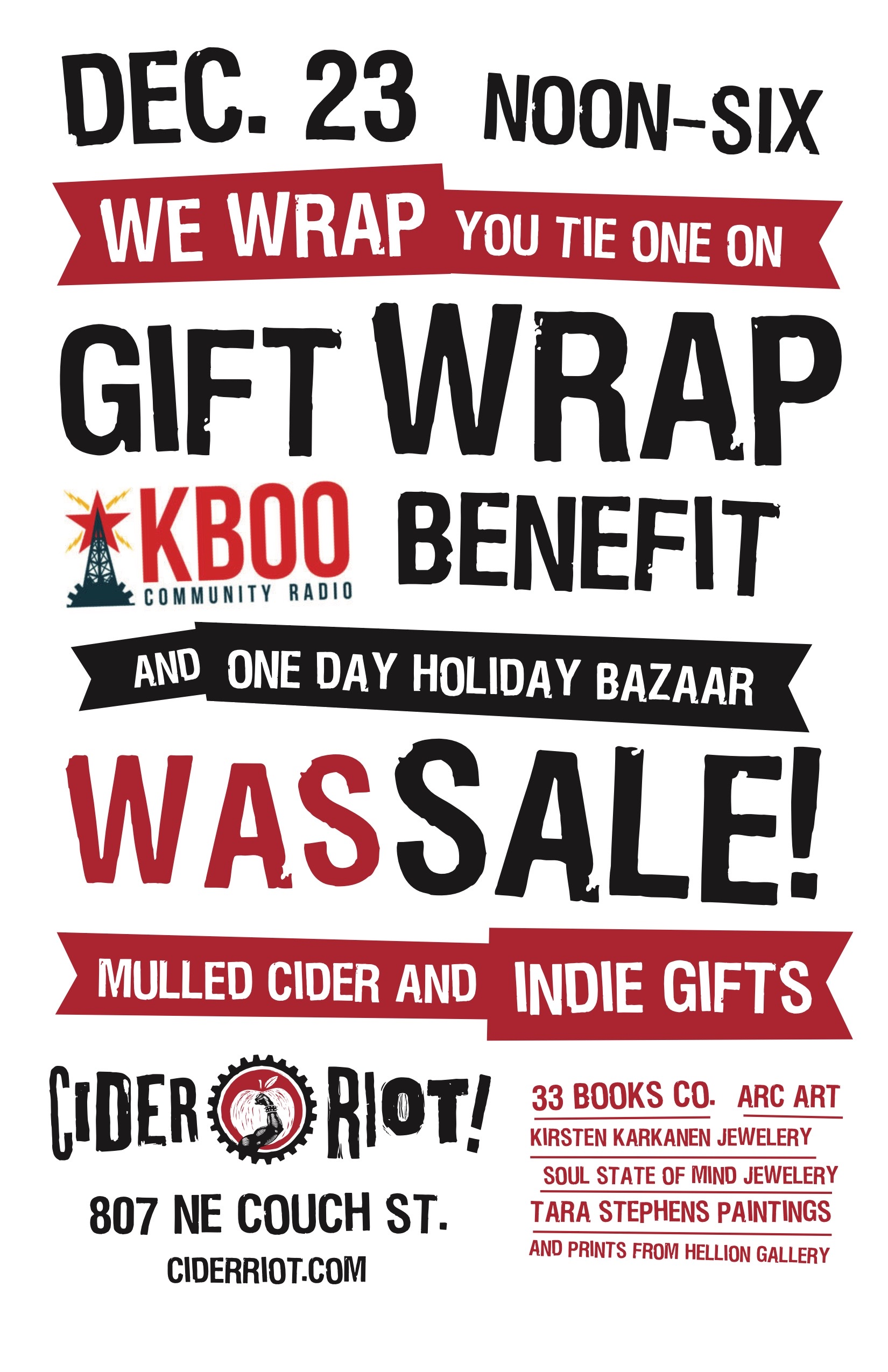 Cider Riot‎! Was-sale! Gift Fair Poster 2017