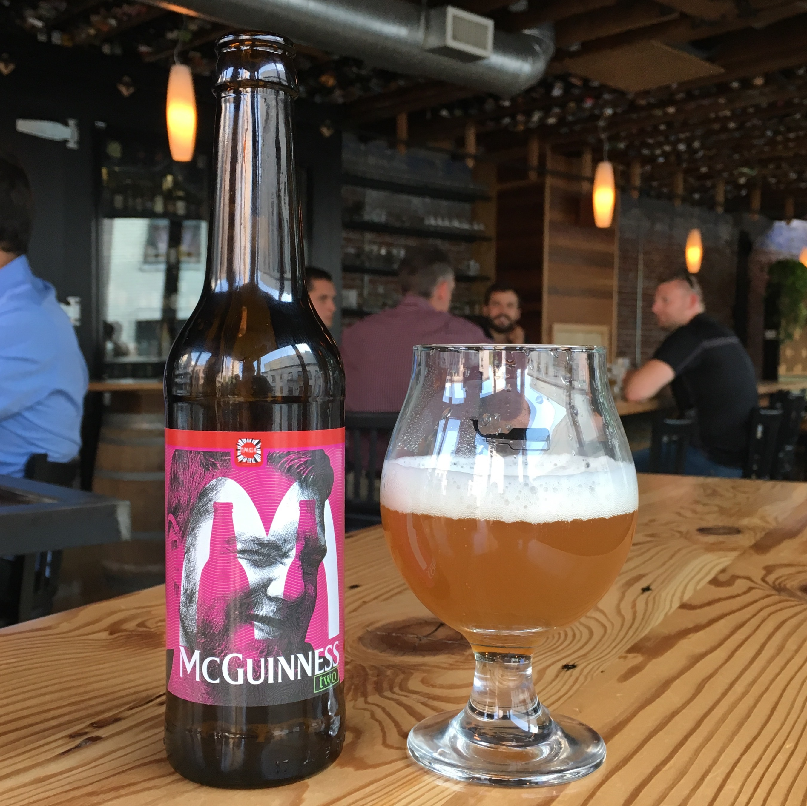 Cory McGuinness has his own beer from Pravda Beer Theater in Lviv, Ukraine.
