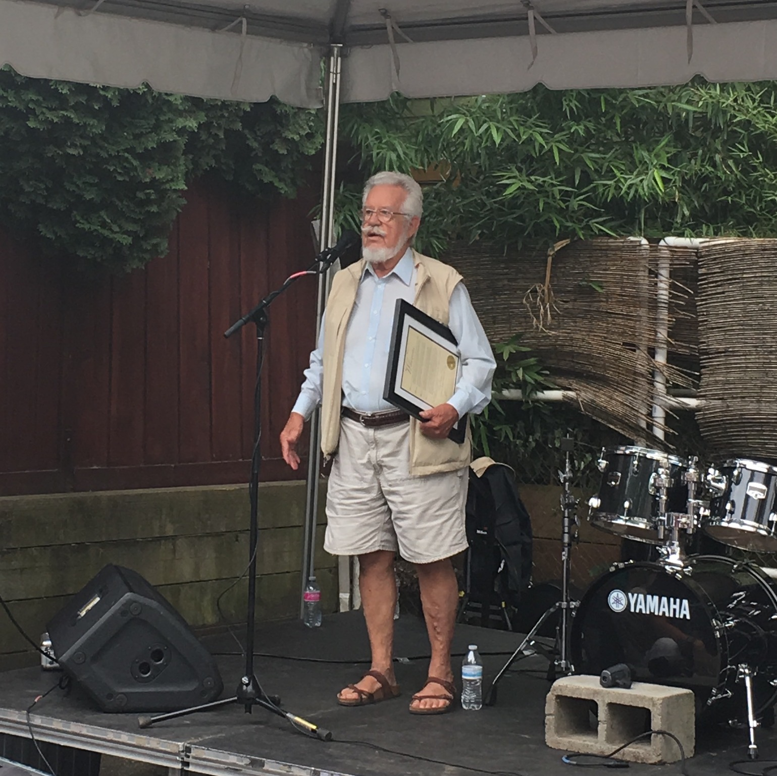 Former Portland Mayor Bud Clark proclaims August 12th to be Terry Currier day. Terry is the longtime owner of Music Millenium