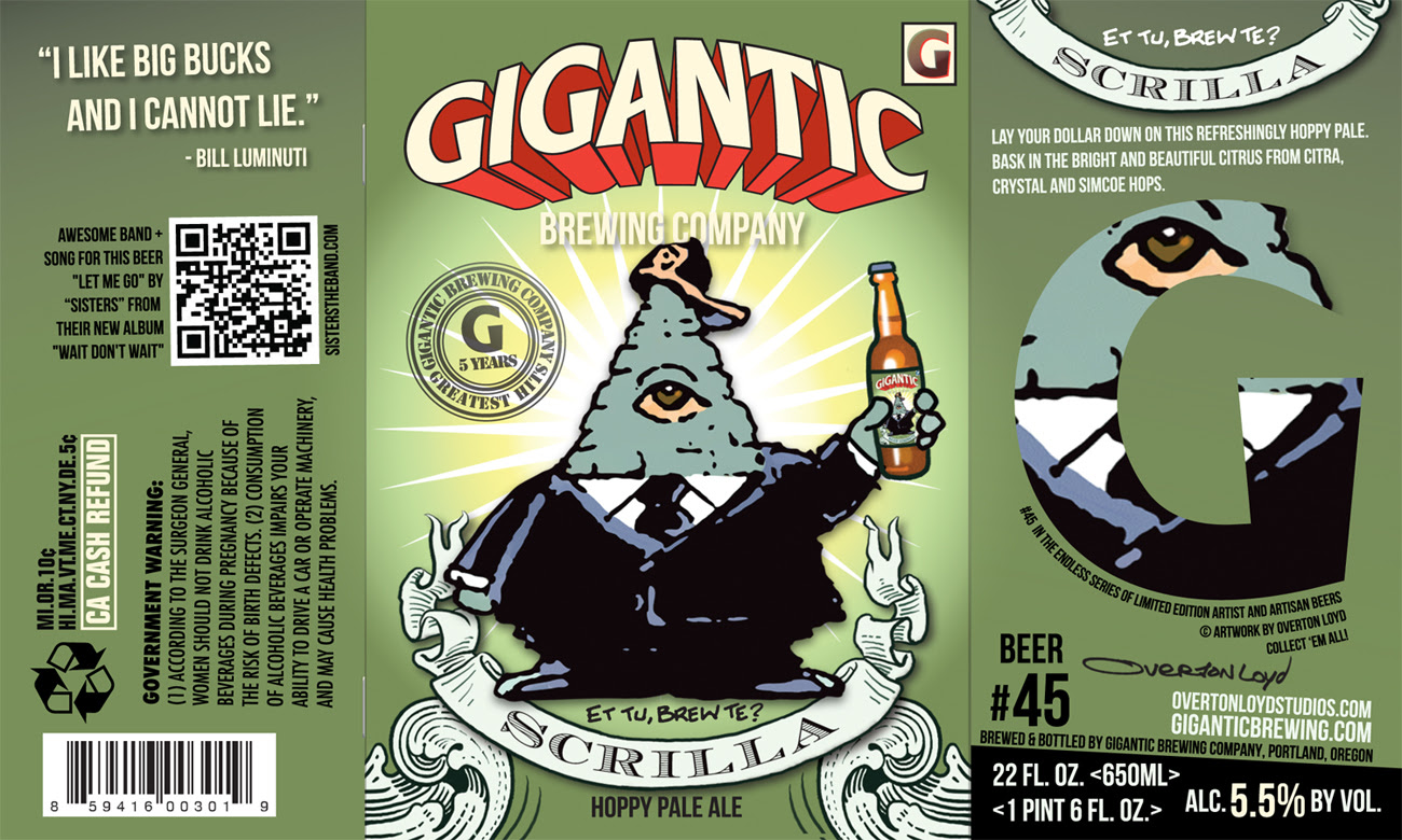 Gigantic Brewing Scrilla Hoppy Pale Ale Greatest Hits