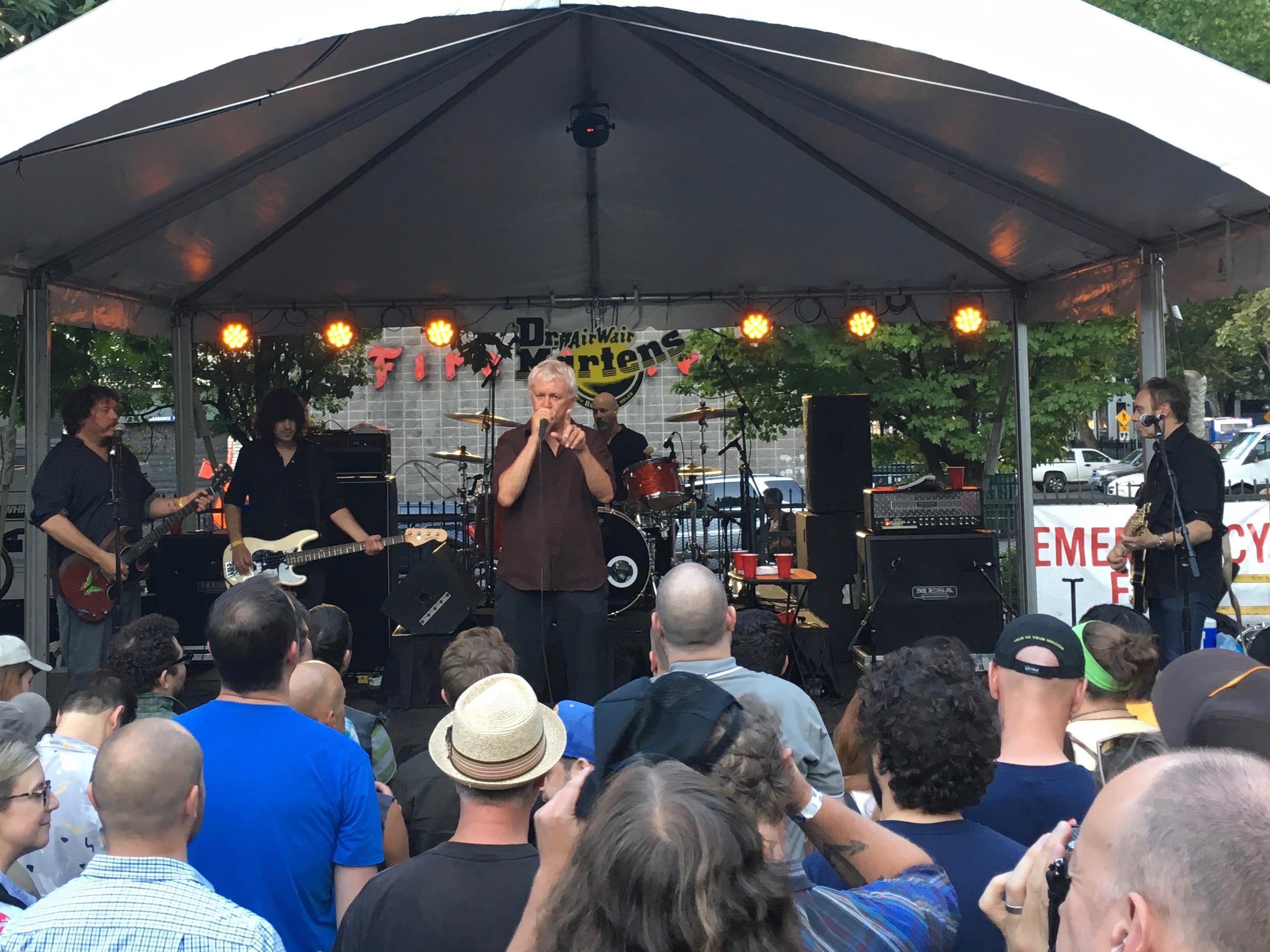 Guided By Voices kicked off Project Pabst at the Dr. Martens store's back parking lot.