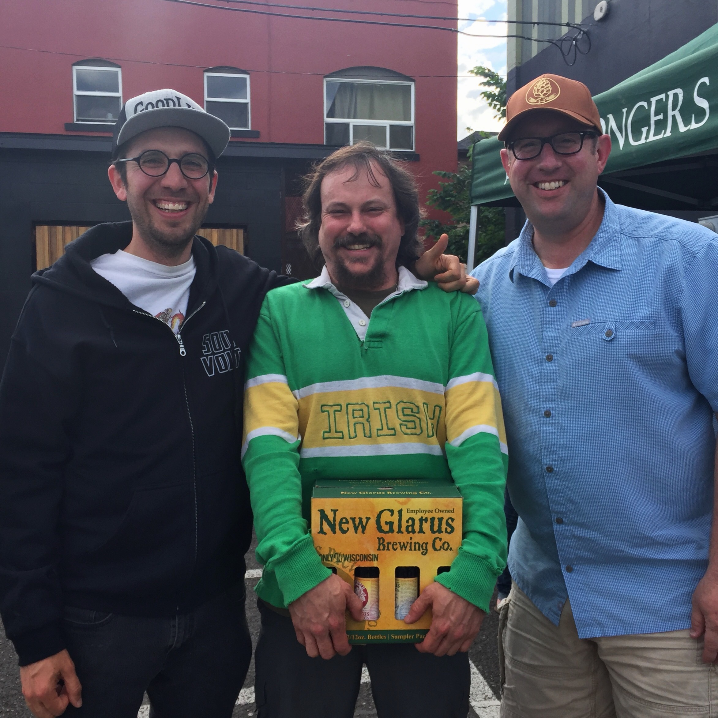Wishing Sean Campbell from The BeerMongers a Happy Birthday with a 12 pack of beer from New Glarus Brewing.