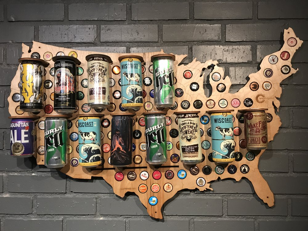 Craft Beer Holiday Gift Guide - Oregon beer cap map