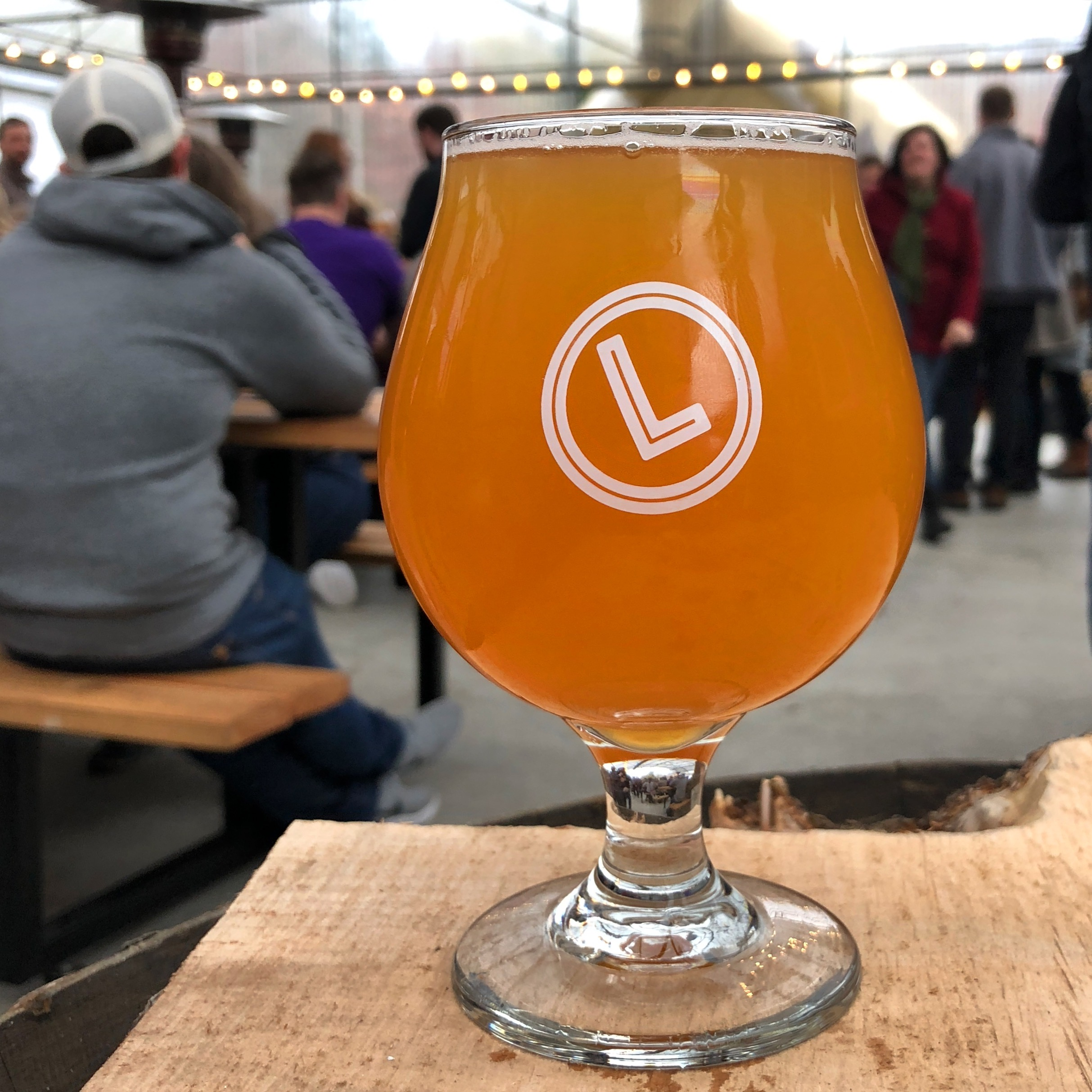 A Hazy IPA at Level Beer's Grand Opening.