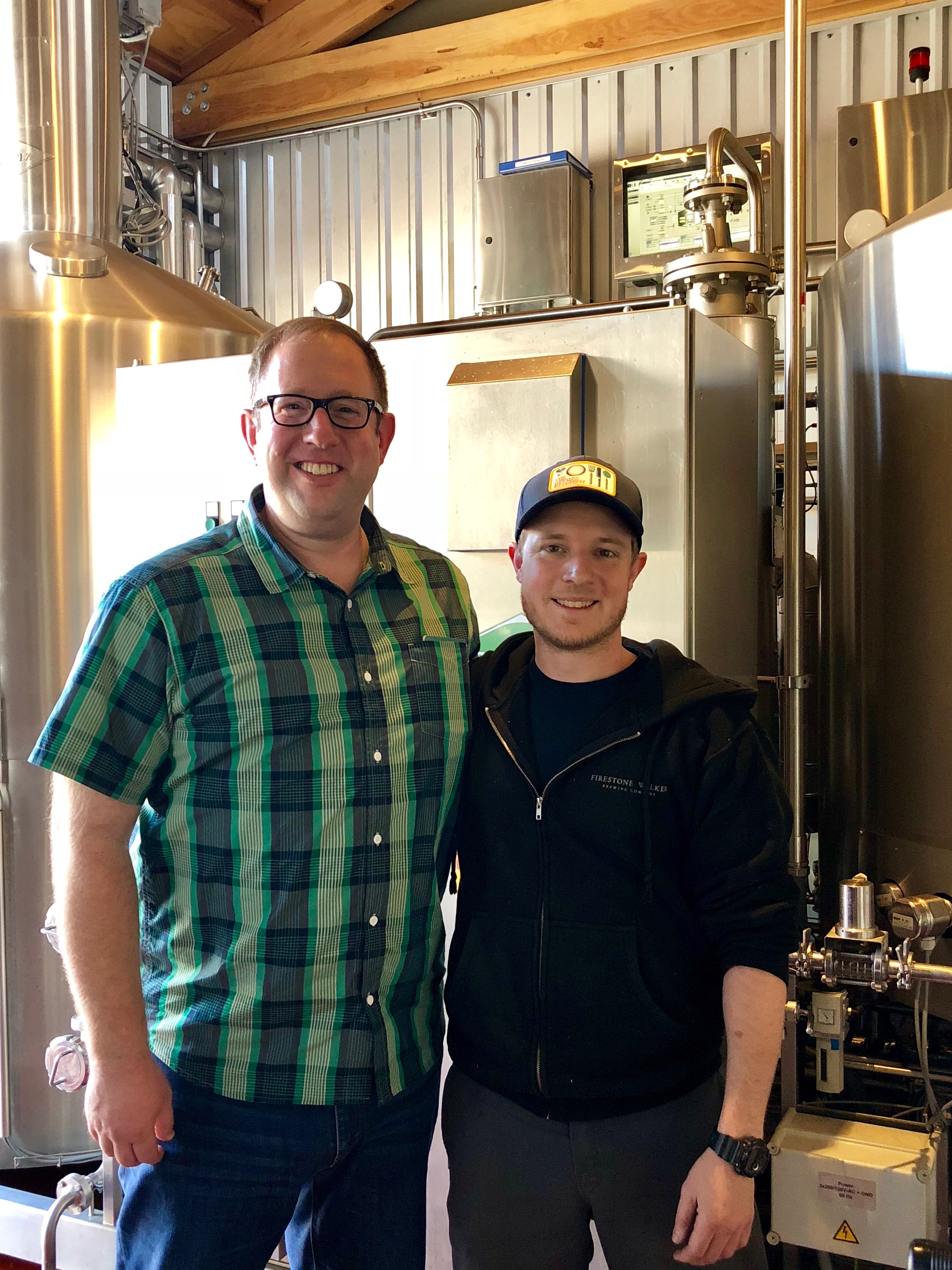 DJ Paul and Evan Partridge, brewer at Firestone Walker Propagator.