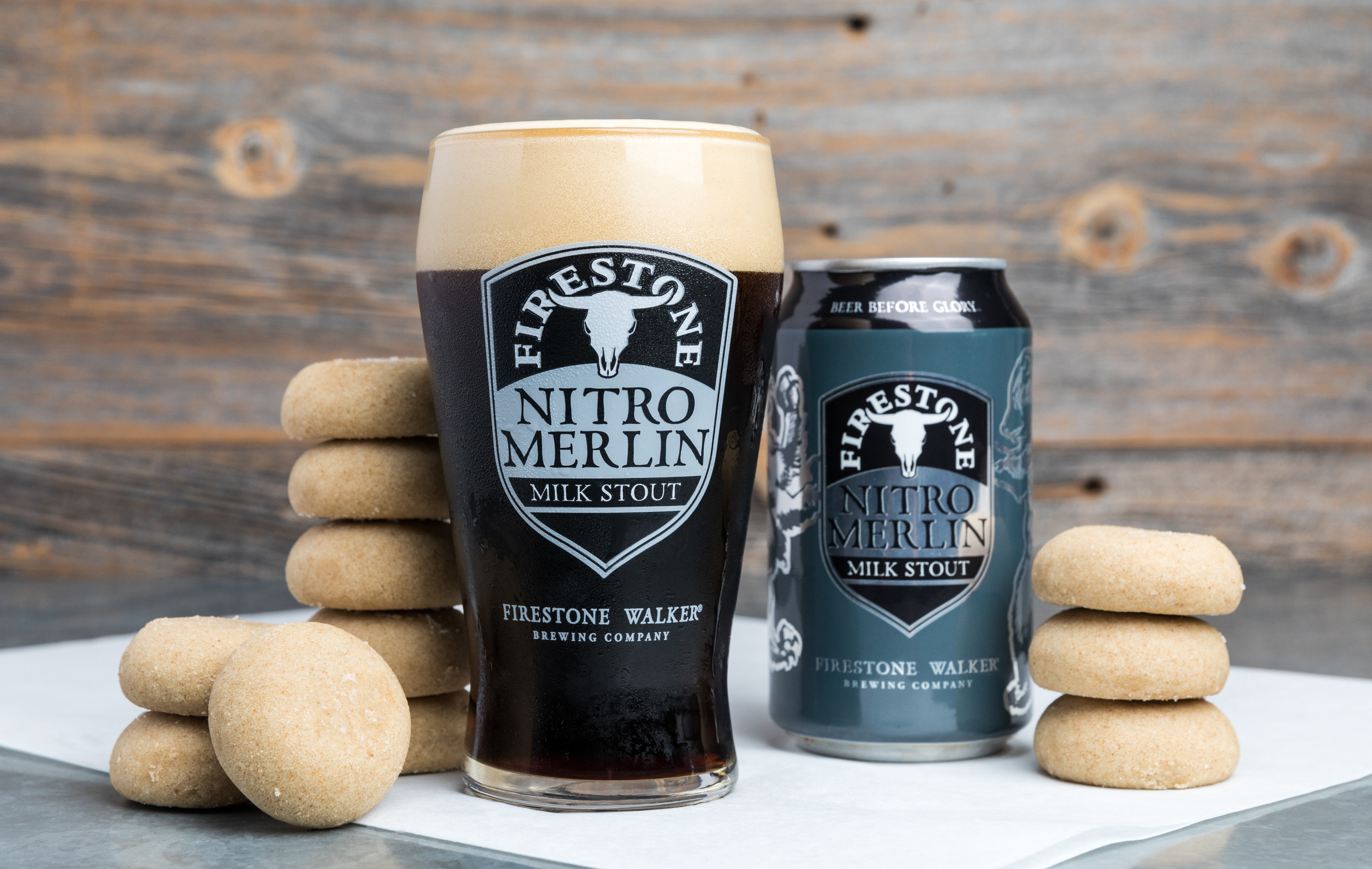 Firestone Walker Nitro Merlin Milk Stout and Brown Butter Cookies. (photo courtesy of Nick Gingold)
