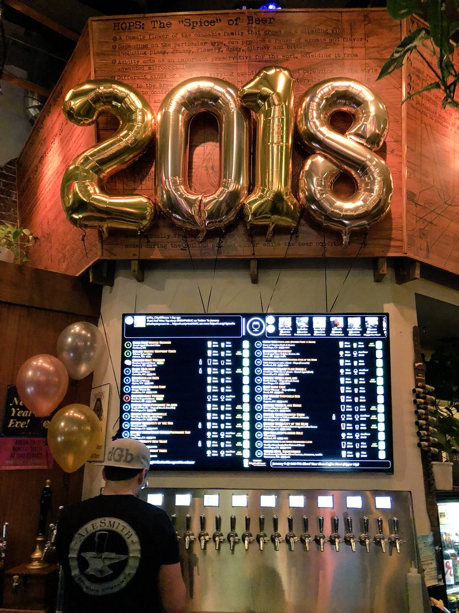Once again we welcomed in 2018 at Bailey's Taproom. This year we partnered with Modern Times Beer. (photo by Cat Stelzer)