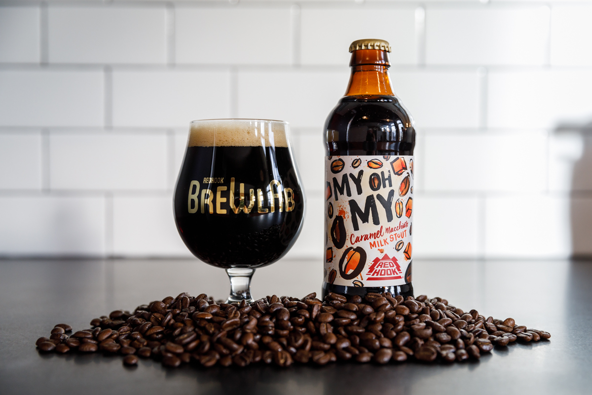 image of My Oh My Caramel Macchiato Stout courtesy of Redhook Brewery
