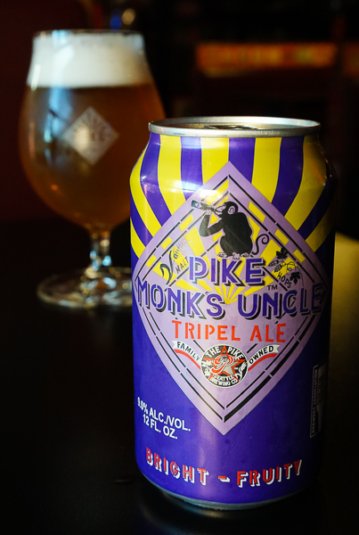 image of Pike Monk's Uncle Triple Ale courtesy of Pike Brewing