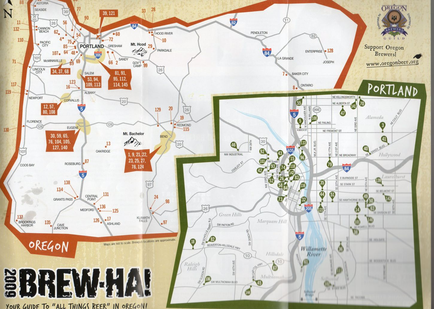 Portland Breweries Map New Brew Ha! Portland Breweries Map