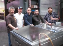 L to R: Hair of the Dog brewmaster Alan Sprints with Siren Brewing's Denver Bon, Darron Anley, Gordon McKenzie, and Ryan Witter-Merithew