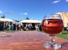 Cider Summit Portland glass at The Fields Park. (photo by BREWPUBLIC)