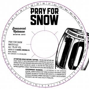 10 Barrel Pray For Snow Winter 2015 Release