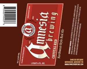 Amnesia Brewing Crystal Red Northwest-Style Red Ale