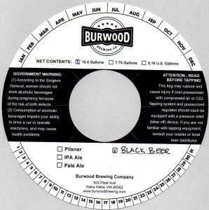 Burwood Brewing Co. Black Beer