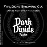 Five Dons Brewing Dark Divide Porter