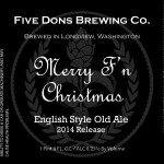 Five Dons Brewing Merry F'n Christmas English Old Ale 2014