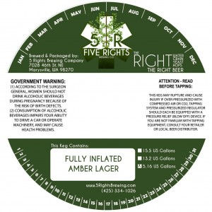 Five Rights Fully Inflated Amber Lager