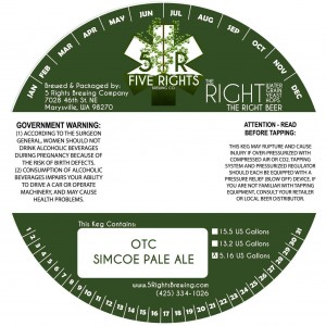 Five Rights OTC Simcoe Pale Ale